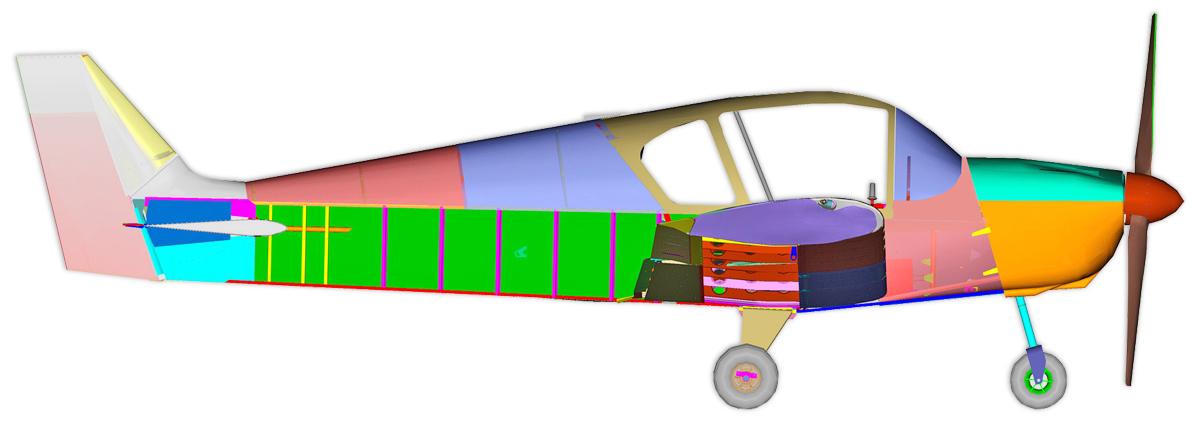 Самолет Zodiac Ch640 Чертежи