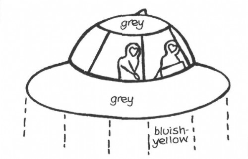 9369f35b Illustration of the UFO and occupants seen by Mrs. Field. (credit: FSR)